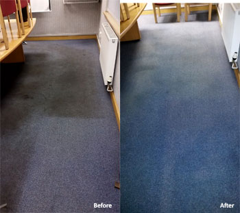carpet cleaning Sheffield before and after photo